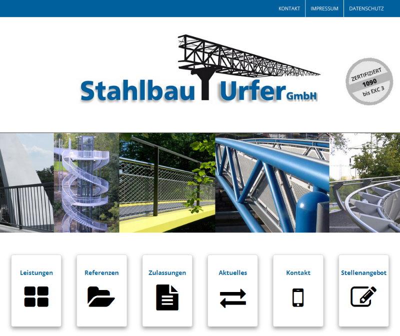 Homepage für Bauunternehmen, FS|MEDIEN - Internetagentur - Stahlbau Urfer - Internetauftritt - Geländer