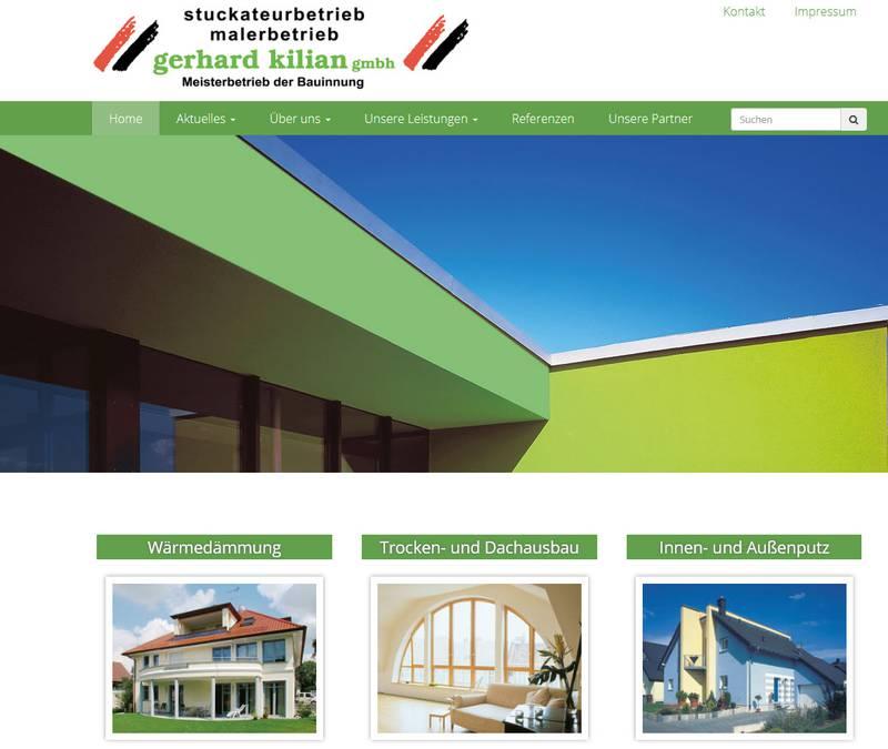 Stuckateur Homepage, Homepage für Bauunternehmen, FS|MEDIEN - Website - Maler - Kilian - Erlangen -