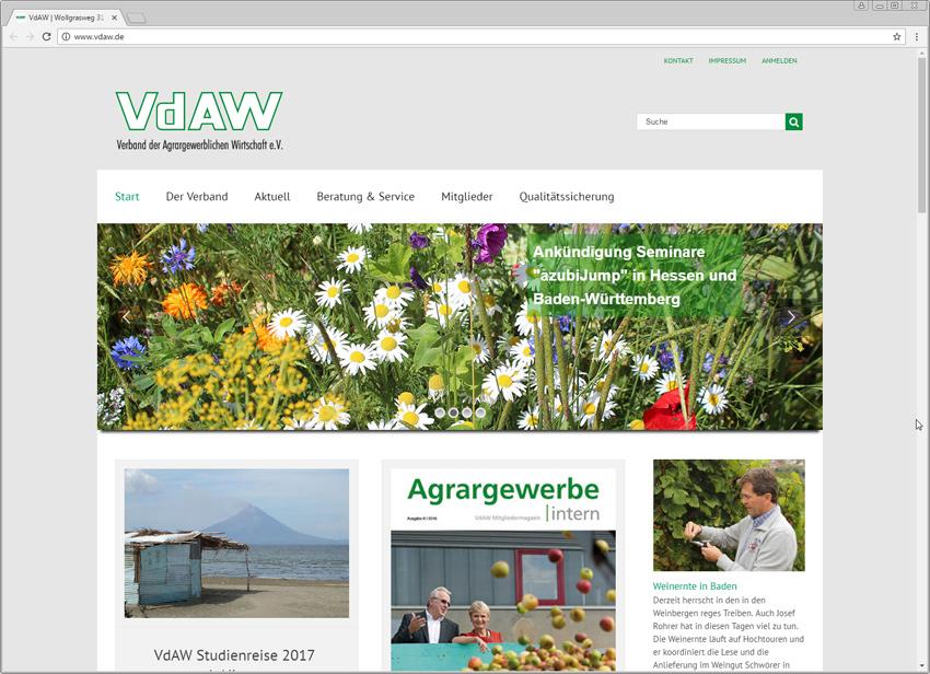 FS|MEDIEN - Internetagentur - Impression Projekte - Internetauftritt - VdAW - WordPress
