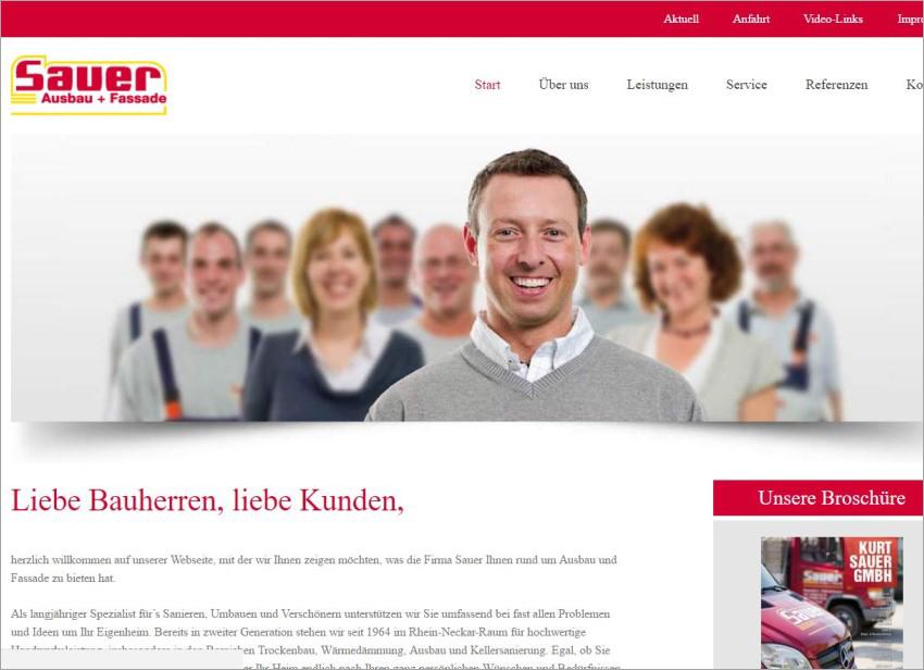 FS|MEDIEN - Internetagentur - Hompage - Kurt Sauer GmbH - Fassade - Meister Maler