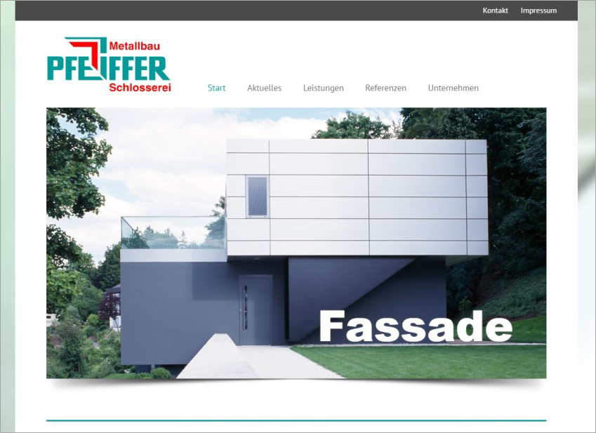 FS|MEDIEN - Internetagentur - Internetseite - Metallbau Pfeiffer - Sachsenheim - Bietigheim-Bissingen