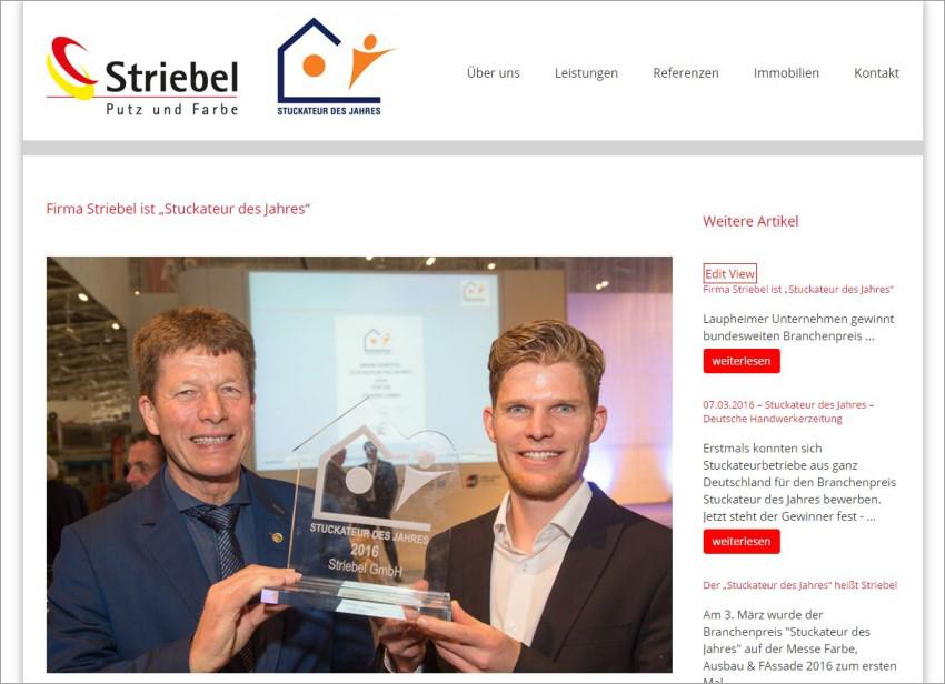 FS|MEDIEN - Internetagentur - Hompage - Striebel GmbH - Laupheim - Malerarbeiten