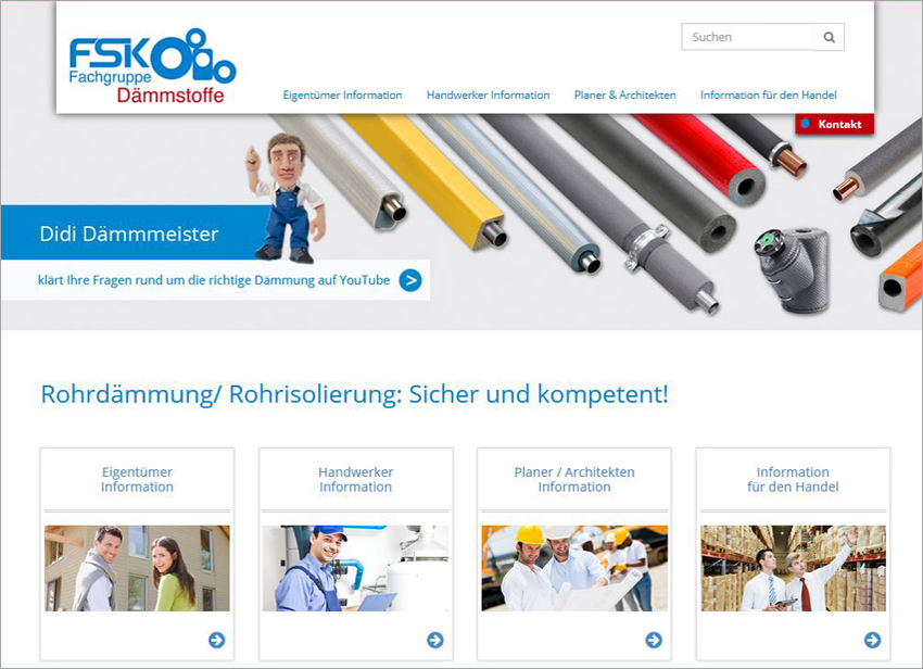 FS|MEDIEN - Internetagentur - Hompage - Didi Dämmmeister - Rohrisolierung
