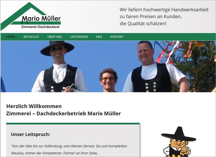 FS|MEDIEN - Internetagentur - Hompage - Zimmerei - Dachdeckerbetrieb Mario Müller - Karlsruhe