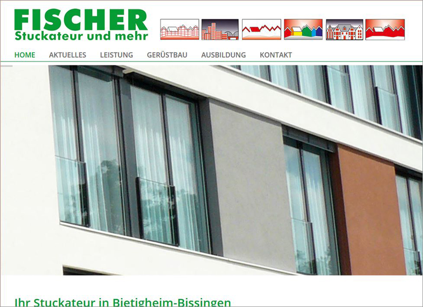 Stuckateur Homepage, FS Medien - Internetagentur - Homepage - Stuckateur Fischer - Bietigheim-Bissingen - Wärmedämmung